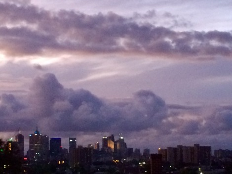 Moody Melbourne sky; view from Hawthorn, 14 November 2015