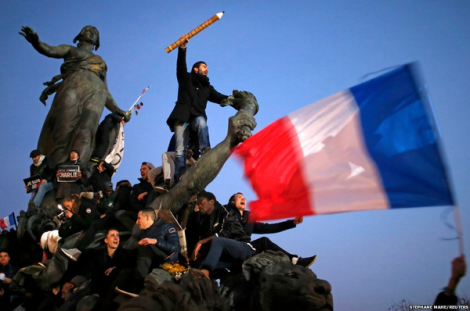 3m people took part in marches across France after 17 people died in deadly attacks in Paris. (Reuters)