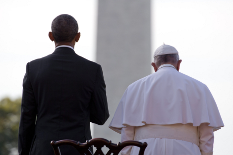 President Obama welcomed Pope Francis to the White House during the pope's first visit to the United States. Stephen Crowley/The New York Times