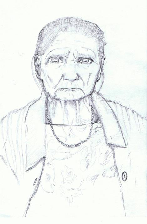 Ciocia Ola (Drawing by Lucasz Dziadkiewicz)