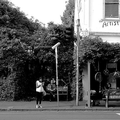 Watching and waiting, Brunswick Street, Fitzroy