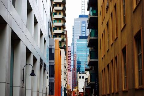 Colour blocks, Exploration Lane, Melbourne
