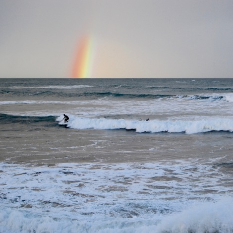 Rainbow wave, Point Lonsdale, Victoria