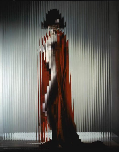 The picasso girl (1947). Model:Lisette. By Erwin Blumenfeld.