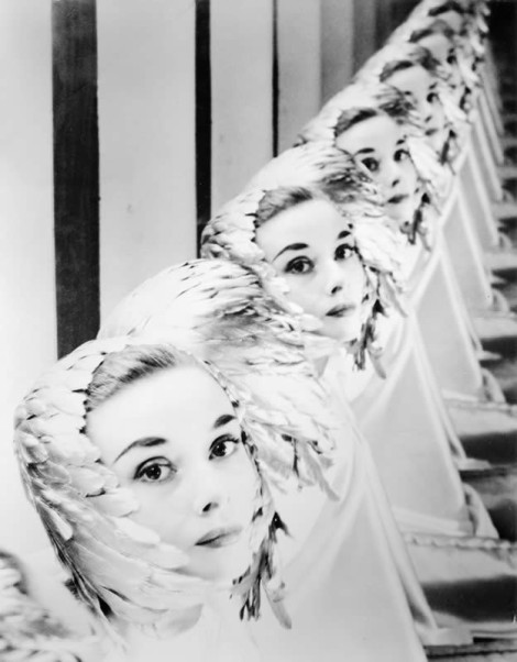 Audrey Hepburn (1955). By Erwin Blumenfeld.