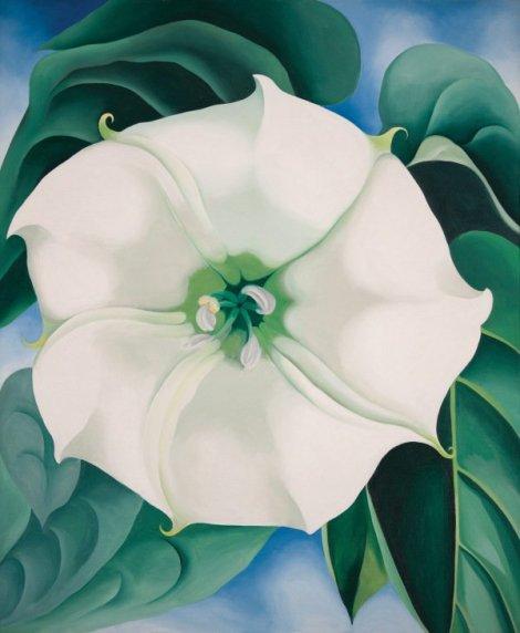 Jimson Weed/White Flower No. 1 (1932). By Georgia O'Keeffe.