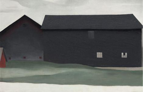 The Barns, Lake George (1926). By Georgia O'Keeffe