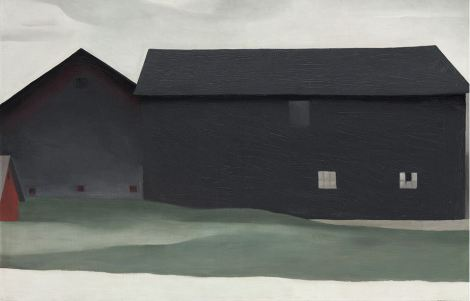 The Barns, Lake George (1926). By Georgia O'Keeffe