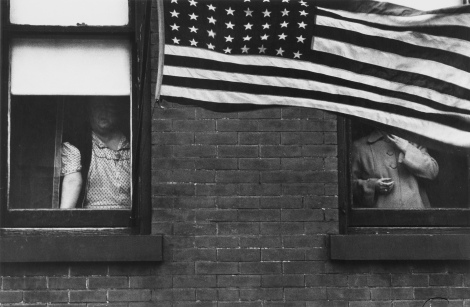 'Parade, Jersey', 1955. Photograph by Robert Frank.