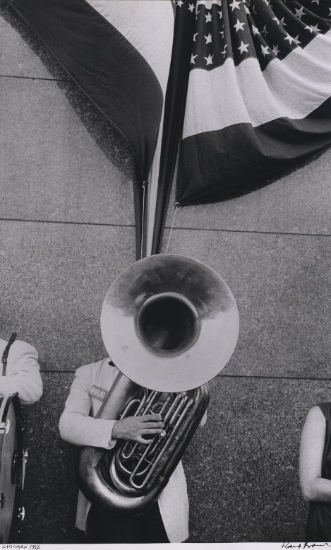 'Political rally—Chicago', 1956. Photograph by Robert Frank.